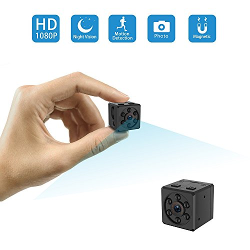 Mini Camera, HD 1080P Portable Covert Body Cam with Night Vision and Motion Detection,Indoor/Outdoor Small Security Camera,Perfect Hidden Camera for Home and Office