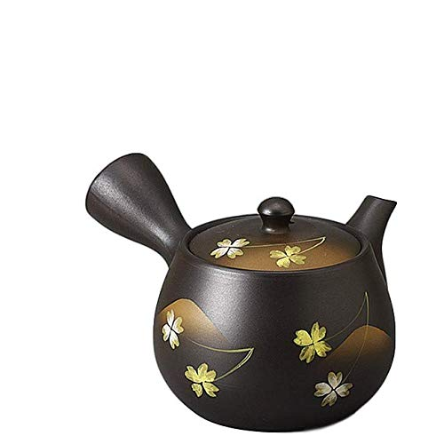 - Japanese Kyusu tokoname Hand-made Clay Teapot 12.9 fl.oz. Kokudei Lucky clovers pattern M58320 from Japan