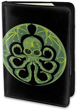 クトゥルフ・シュガースカル Cthulhu Sugar Skull パスポートケース メンズ 男女兼用 パスポートカバー パスポート用カバー パスポートバッグ 小型 携帯便利 シンプル ポーチ 5.5インチ高級PUレザー 家族 国内海外旅行用品