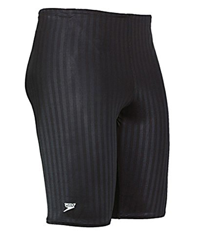 Speedo Men's Aquablade Jammer Swimsuit, Black, 36