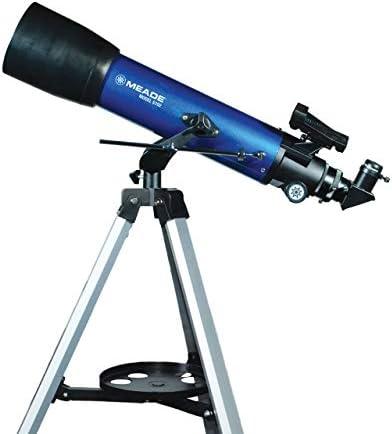 Meade Instruments - Apertura S102mm, Telescopio Astronómico Refractivo para Principiantes Portátil para Niños y Adultos - Adaptador adicional para teléfono inteligente y accesorios incluidos - Montaje manual ajustable de azimut alternativo (AZ)