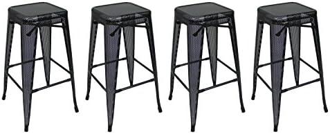 Outstanding Amazon Com Pin Dynasty Stackable Industrial Metal Mesh Bar Short Links Chair Design For Home Short Linksinfo