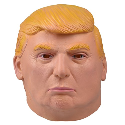 Smays Donald Trump Mask (Latex Rubber, Full Head, Adults Face Costume)