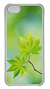 LJF phone case iphone 6 4.7 inch Case Unique Cool iphone 6 4.7 inch PC Transparent Cases Branch With Green Leaves 21 Design Your Own iphone 6 4.7 inch Case