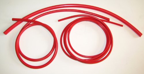 Metric Silicone Vacuum Lines 3 Sizes Kit - Red by MotoSport (Image #1)