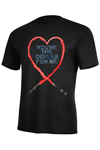 Star Wars Valentines T-shirt - You're the Obi-Wan for Me (large, black)
