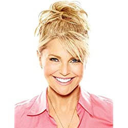 """Natural Tone Hair Wrap Color HT25 Ginger Blonde - Christie Brinkley 6"""" Overall Length Heat Friendly Textured Hairpiece Fun Bun Chignon"""
