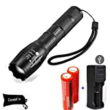 Constefire Tactical Flashlight with Rechargeable