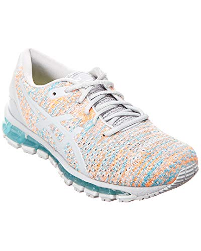 ASICS Women's Gel-Quantum 360 Knit, Grey/Orange/Blue, 12