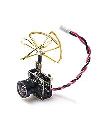 AKK S2 5,8 g 48 CH 25 mW VTX 600TVL 1 3 CMOS AIO FPV cámara con Clover Antena para FPV Drone como Tiny Whoop Blade inductrix etc.