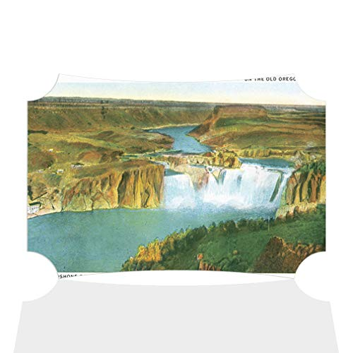 Sign Destination Aluminum Metal Wall Decor Shoshone Falls, Idaho Horizontal Poster Picture Photo Print Wall Art - Berlin Shape, 7
