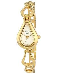 Titan Women's 2333YM01 Raga Inspired Gold Tone Watch