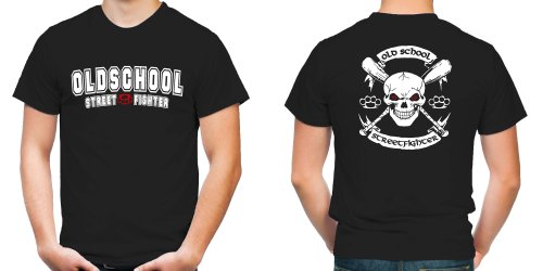 Old School Streetfighter T-Shirt | MMA | Fussball | Herren | Männer | Schlagring | Hardcore | M5