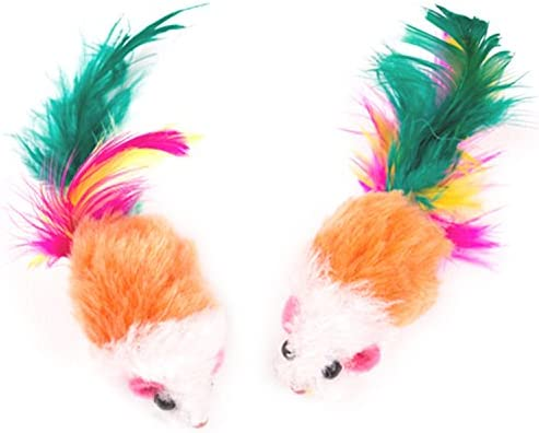 Aftermarket Furry Pet Cat Toys Mice, Cat Toy Mouse, Pet Toys for Cats, Cat Catcher for Feather Tails, 10 Counting 4