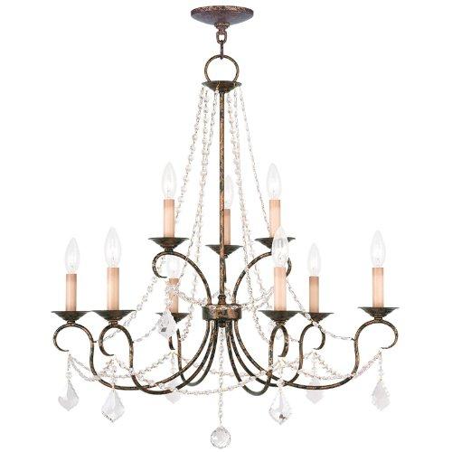 (Livex Lighting 6519-71 Pennington 9 Light Chandelier, Hand Applied Venetian Golden Bronze )