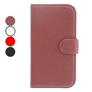 GX Litchi grano de cuerpo completo Caja de cuero de la PU con el soporte y la ranura para tarjeta para Samsung Galaxy S4 i9500 (colores surtidos) , White