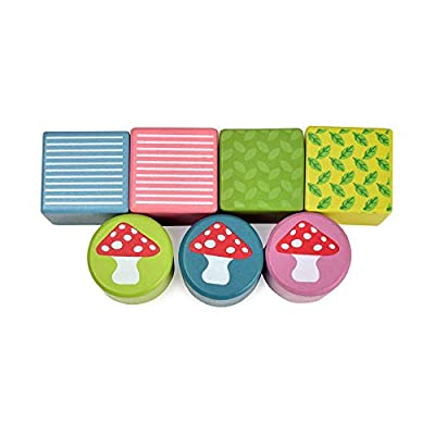 Baby Acoustic Sound Stacking Blocks with Optical Mirror - Toddler Sensorial Development Toys - Storage Tray 13 Pieces Set: Toys & Games