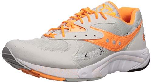 Saucony Originals Men's AYA Sneaker White/Grey/Orange 11.5 M US