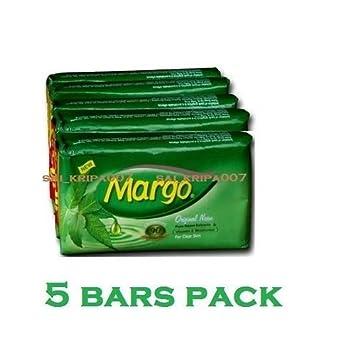 Margo Neem Soap Anti Bacterial Power Bar Soap 5 Bars Original Neem 75 Gm Each Health & Beauty Bath & Body