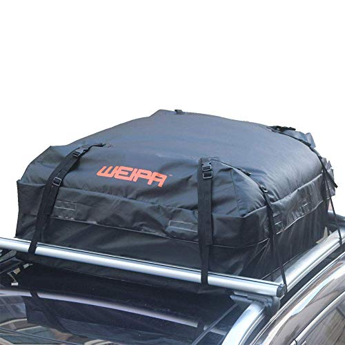 (WEIPA Waterproof Roof Top Cargo Bag- Rooftop Carrier Bag & Storage bag, For Truck ATV Canvas Jeep or SUV (15 Cubic Feet))