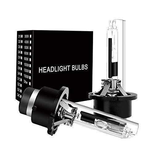 (D2R HID Xenon Headlight Replacement Bulbs 35W 6000K High And Low Beam SHFY Head Lights (Pack of two bulbs) Headlights Bulb (D2R, 6000K) )