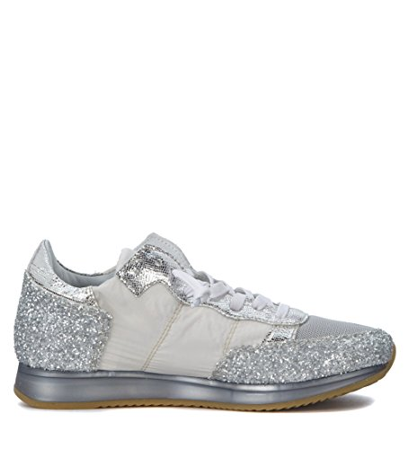 Silver Philippe Womens and Womens Sneaker Model White Silver Tropez Tropez Philippe Model White CqCHTwx