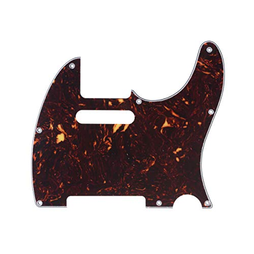 Musiclily Pro 8-Hole Guitar Tele Pickguard for JPN Made Fender Japan Telecaster, 4Ply Tortoise Shell