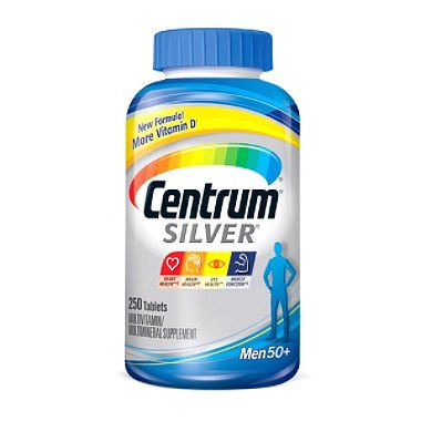 Centrum Silver Men's Multivitamin (250 ct.) (pack of 6) by Centrum