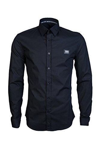 MOSCHINO Mens Casual Shirt MC730 89S 2891 Size (Moschino Button Pattern)