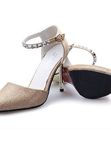 Oro cn36 us8 mujer PU Stiletto us6 eu39 cn39 eu39 uk6 golden Plata Zapatos eu36 us8 Tacones Tacones Tac¨®n uk4 ZQ cn39 Casual de golden golden uk6 TxvEf4Tq
