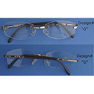 Nisstiiv 925 Sterling Silver stripes Rimless Eye Glasses Rare and Unusual spectacle frame eyeglasses