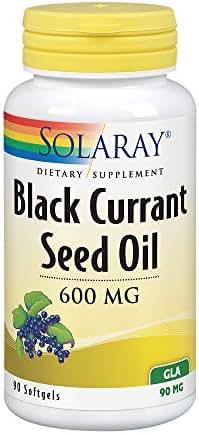 Solaray Black Currant Seed Oil 600 mg | Gamma Linolenic Acid (GLA) | Healthy Skin, Hair, Joints, Vascular & Immune Function Support | 90 Softgels