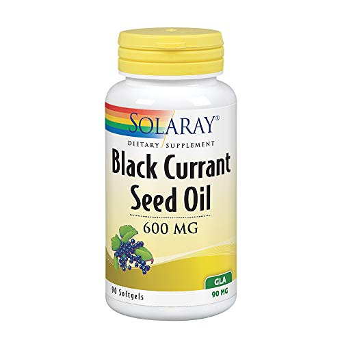 Solaray Black Currant Seed Oil, 600 Mg, 90 Softgels
