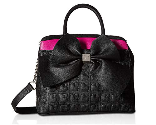 Johnson Fuchsia Belted Bow Betsey Black Womens Satchel gz4dnnqw