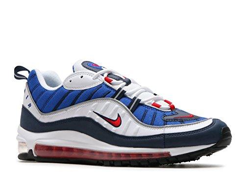 Nike Mens Air Max 98 Scarpe Da Ginnastica Bianche / Rosse (bianco / Rosso Università / Ossidiana 100)