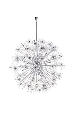 Maxim 39747BCPC Starfire 40-Light Chandelier, Polished Chrome Finish, Beveled Crystal Glass, G9 Xenon Xenon Bulb , 100W Max., Wet Safety Rating, Standard Dimmable, Glass Shade Material, 1150 Rated Lumens