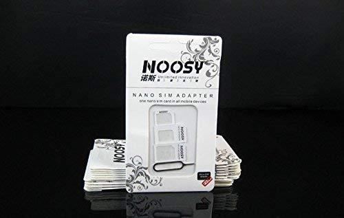 Noosy 4-in-1 Juego de adaptadores de Tarjeta Sim Blanco