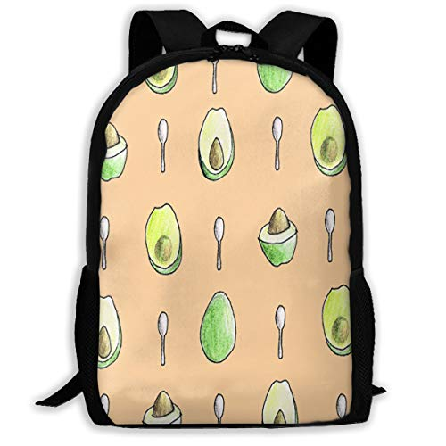 Backpack Avocado & Spoon Mens School Daypack Designer Gift