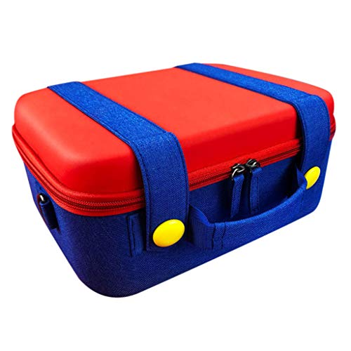 Organizer Buddy Desktop - Sikye EVA Hard Shell Portable Travel Carrying Case with Handle fit Pro Controller & Dock for Nintendo Switch - Red