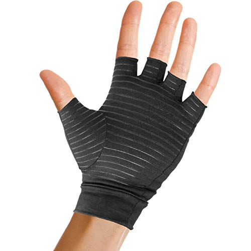 66e6b18732 Pivit Copper Arthritis Gloves | Fingerless Compression Glove for Rheumatoid  & Osteoarthritis | Cold Hand Hot Glove for Arthritic Joint Pain Symptom  Relief ...