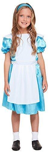 Girls Classic Alice In Wonderland Fantasy World Book Day Week Lewis Carol Halloween Carnival Fancy Dress Costume Outfit (10-12 -