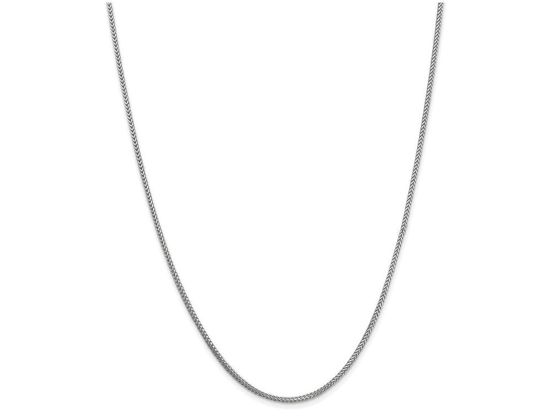 14 Kホワイトゴールド1.3 MMフランコチェーンネックレス B00SXMUU70 20 inches