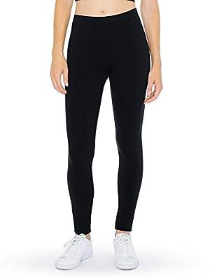 American Apparel Winter Legging, Black, Large