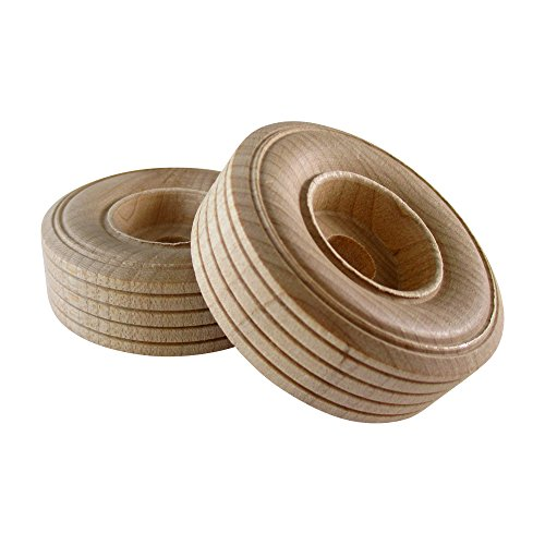 Woodpeckers 12 Wooden Craft Toy Treaded Wheels (2-3/4 X 3/4 Thick)
