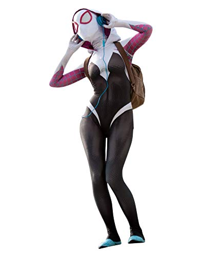 CosplayLife Gwen Stacy Suit, Mask & Lenses (Medium)]()