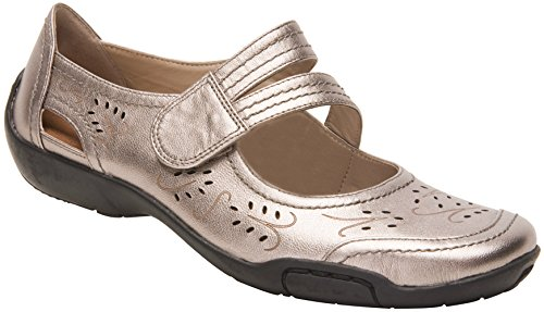 (Ros Hommerson Chelsea 62005 Women's Casual Shoe: Pewter Leather 8.5 X-Narrow (4A) Velcro)