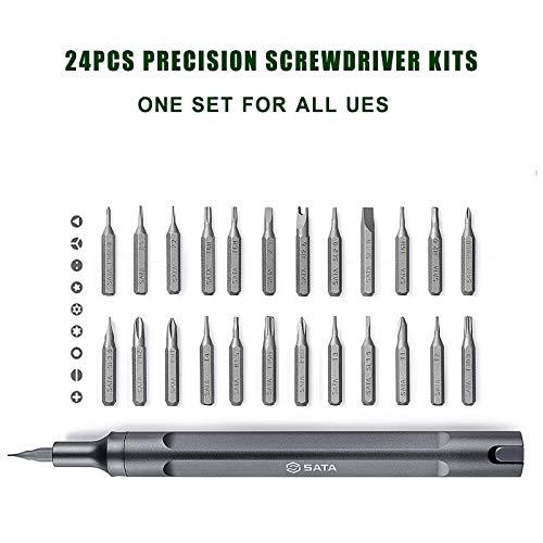 Best Quality 25 Pcs Pen Screwdriver Kits Mini Aluminum Screw Driver Set Repair Kit Hand, Screw Driver Pen - Portable Tool Kit Screwdriver, Glasses Screwdriver, Precision Screwdriver Set Torx by BAPES