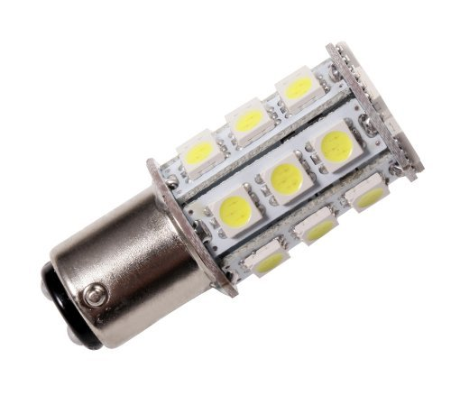 GRV Ba15d 1142 High Bright Car LED Bulb 24-5050SMD AC/DC 12V-24V Cool White Pack of 2 by GRV