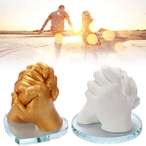 Rosepoem Holding Hands Sculpture DIY Casting Kit 3D Baby Feet Model Casting Kit Moulding Powder Great Wedding Valentines