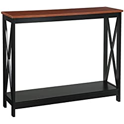 Convenience Concepts Oxford Console Table, Cherry/black